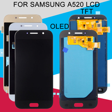 Catteny A5 2017 Display For Samsung Galaxy A520 LCD A520M A520FD A520F Display Touch Screen Panel Glass Digitizer Assembly super amoled a520 lcd for samsung galaxy a5 2017 a520f a520f ds a520k sm a520f display touch screen digitizer assembly lcd parts