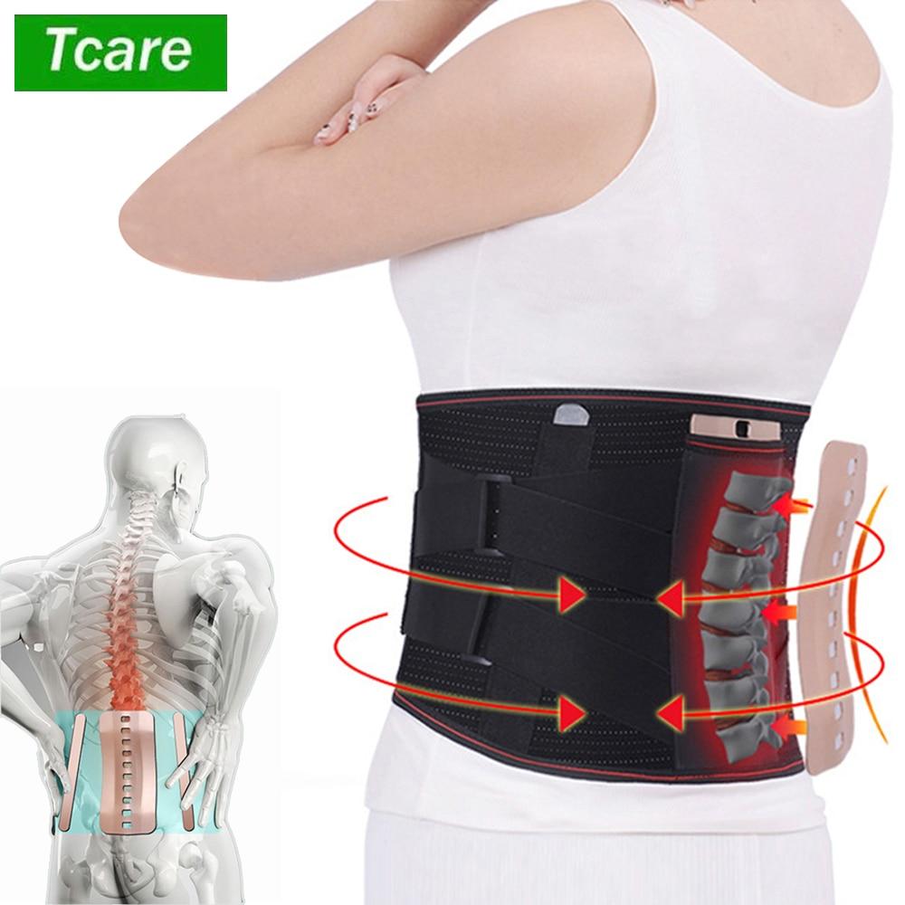Tcare 1 sztuka pas lędźwiowy dysk przepuklina ortopedyczne medyczne szczep ulga w bólu gorset dla kręgosłupa pleców dekompresji Brace Szelki i korektory postawy    -