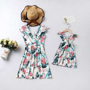 Family Matching Dress Mom Bohemian-Style Mommy And Me Floral