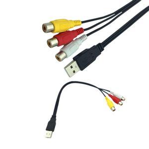 Image 3 - 1 máy tính USB Nam Cắm Sang 3 ĐẦU RCA Adapter Chuyển Đổi Âm Thanh Video AV MỘT/V Cáp USB cáp RCA dành cho HDTV TV Truyền Hình Dây Dây