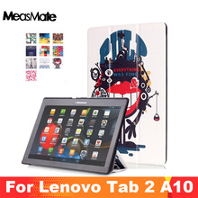 Tablet Case for Lenovo TAB 2 A10-30 A10-70 TAB-X103F Case Tri-Fold Stand Cover For Lenovo Tab 3 10 Business TB3-X70 TAB-X103F  цена 2017