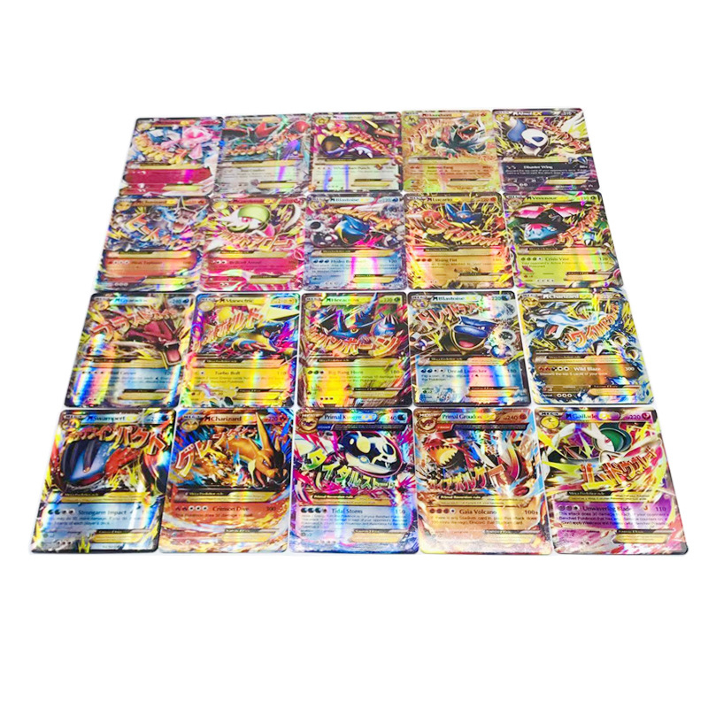 TAKARA TOMY Pokemon 100PCS GX EX MEGA Cover Flash Card 3D Version LOST THUNDER Card Collectible Gift Kids Toy