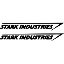 Car Sticker 2 X Fashion Stark Industries Automobiles Motorcycles Styling Waterproof JDM Vinyl Decal 20cm*3cm cheap The Whole Body Number Letter Glue Sticker 0 01cm Stickers Words Creative Stickers Not Packaged