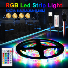 LED Strip RGB USB Led Light Ambilight TV rgb pc led 5v 2835 0.5M 1M 2M 3M 4M 5M Outdoors Waterproof Rope Indoor