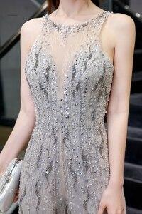 Image 5 - Combinaison de luxe pour femmes, perles lourdes scintillantes, sexy, pantalons formels, tenue de soirée