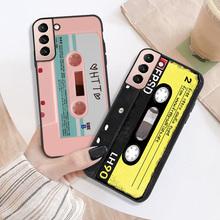 Miękkie silikonowe powłoki dla Samsung S10 przypadku Retro Audio kaseta telefon pokrywa Galaxy M31 M31S M51 uwaga 20 Ultra Plus 10 S10 Lite Pro tanie tanio CN (pochodzenie) Częściowo przysłonięte etui Soft Phone Bumper For Samsung S10 M51 Note 20 Ultra Plus 10 S10 Lite przezroczyste