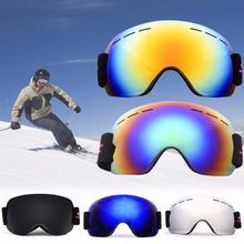 UV400 лыжи очки защита сноуборд очки анти-туман большой лыжи маска очки снег снегоход мужчина женщины лыжи открытый спорт