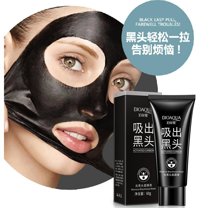 Máscara negra bioaqua máscara limpia Nariz limpia la película limpia T zona importa negro máscara QYPF 14cm * 16cm estilo de coche ejército disparo vinilo elegante pegatinas de coche negro plata S2-0124