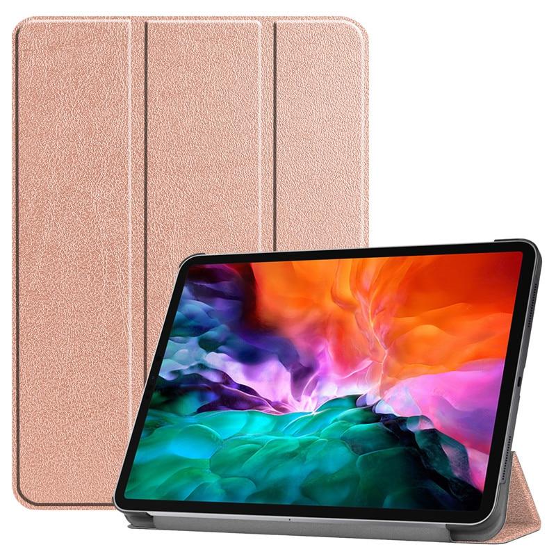 PC A2461 Smart Back iPad Hard for 12 2018 Cover Pro iPad Case PU 2021 9 Stand Funda For Leather 2021 Pro Case 2020 12.9 Folding