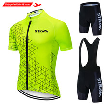 Cycling Jersey Set 2020 summer Pro Team STRAVA Bicycle Cycling Clothing Bike Clothes Men Mountain Sports bike Set Cycling Suit
