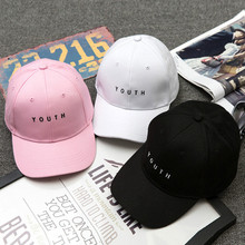 Summer New Hat Men's and Women's Korean Embroidery Youth Cap Holiday Travel Sunshade Baseball Cap Wholesale unique holiday embroidery adjustable baseball cap