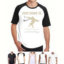 The Big Lebowski Just DUDE it Jeff Bridges ABIDE Dudeism printed t-shirt 9264 Tees Custom Jersey t shirt hoodie hip hop t-shirt(China)