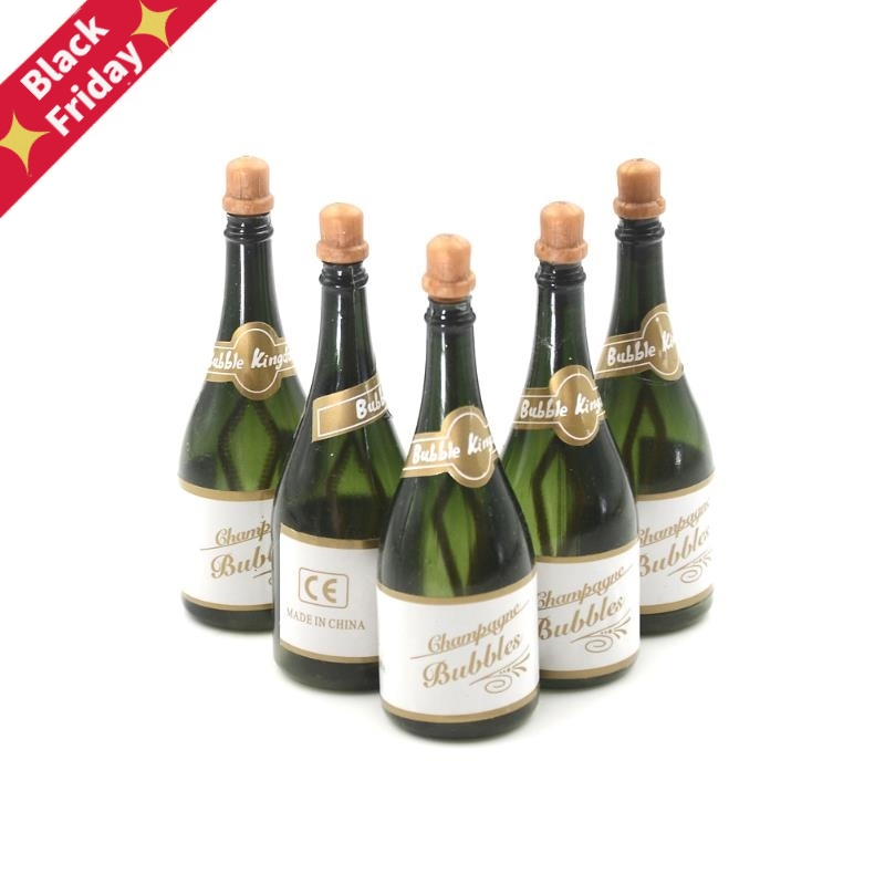 5Pcs Champagne Bottle DIY Self Watering Bubble Bottles Kids Favorite Classic Toys White Cake Bubbles Best Birthday Party Gifts
