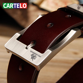 CARTELO Men's Cow Leather belts Luxury Strap Male Belts For Fashion Classice Vintage Pin Buckle Men Belt High Quality Large size