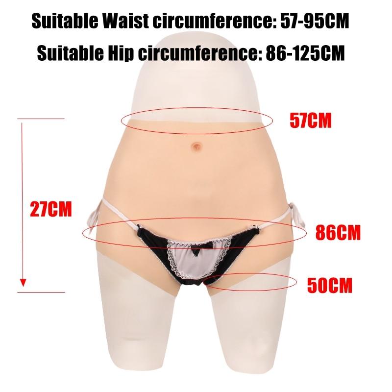 86CM silikon gerçekçi vajina külot transeksüel Crossdresser kedi pantolon transseksüel yapay seks sahte iç çamaşırı artırıcı kalça 2G