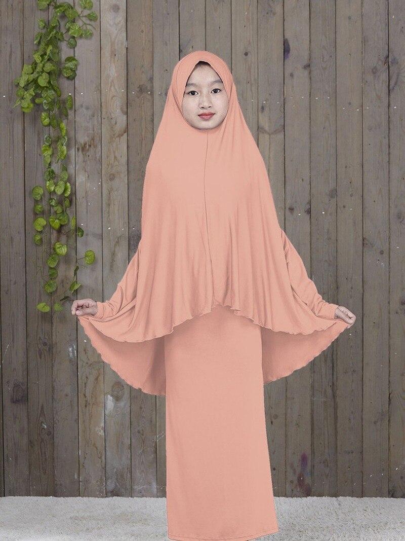 Мусульманская одежда для детей, мусульманское платье, абайя, кафтан, арабский, Ближний Восток, Турция, Дубай, Подростковая девочка, простой д...