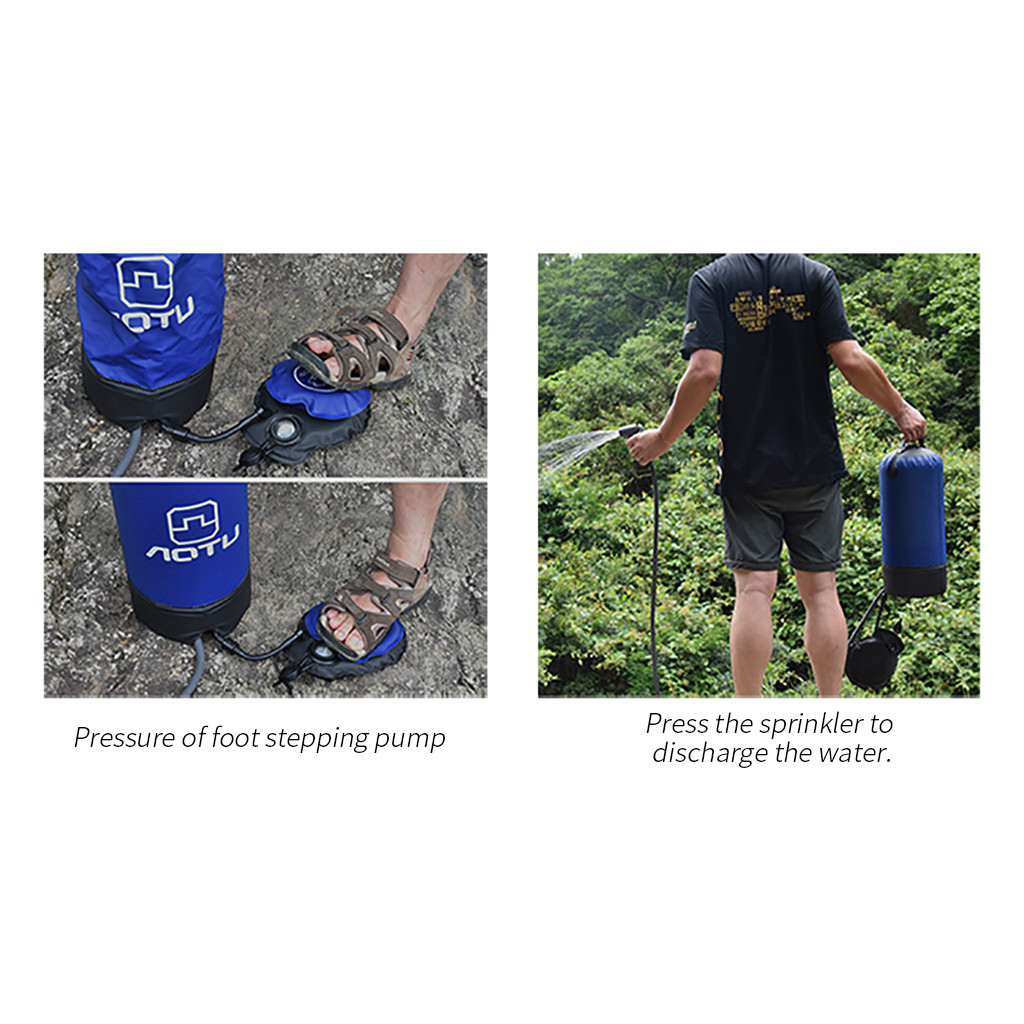 Ducha portatil manual Portable Pressure Shower With Foot Pump For Outdoor Hiking