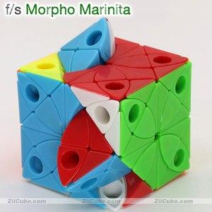 Image 2 - Magic cube puzzle f/s limCube Morpho Aureola cube fs Morphidae Marinita Helena Deidamia skew cube educational twist toys puzzles