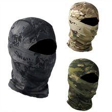 Máscara de camuflagem rosto cheio ao ar livre caça bicicleta caça exército militar capacete forro tático airsoft boné