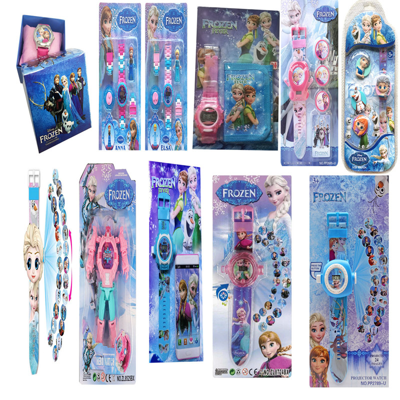 Disney Princess Elsa  Watches Electronic Colorful  Source Child Watch Girls Birthday Party Kids Gift Clock Childrens Wrist