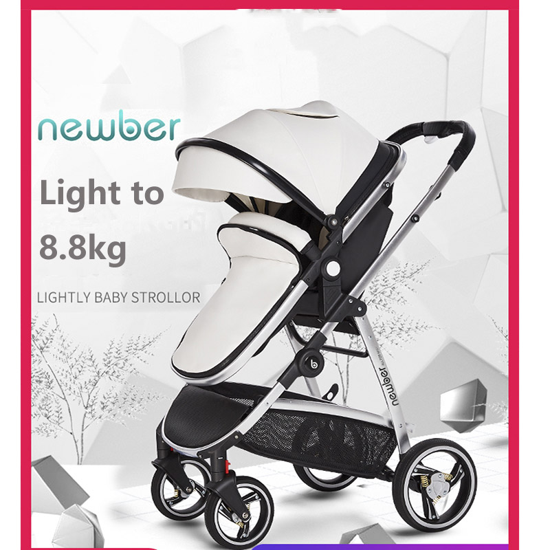 High landscape Luxury 2 in 1 Baby Stroller can Sit and Fold Light Newborn Bebe Stroller Two way Four Wheel Shock Baby Carriage|Four Wheels Stroller| |  - title=