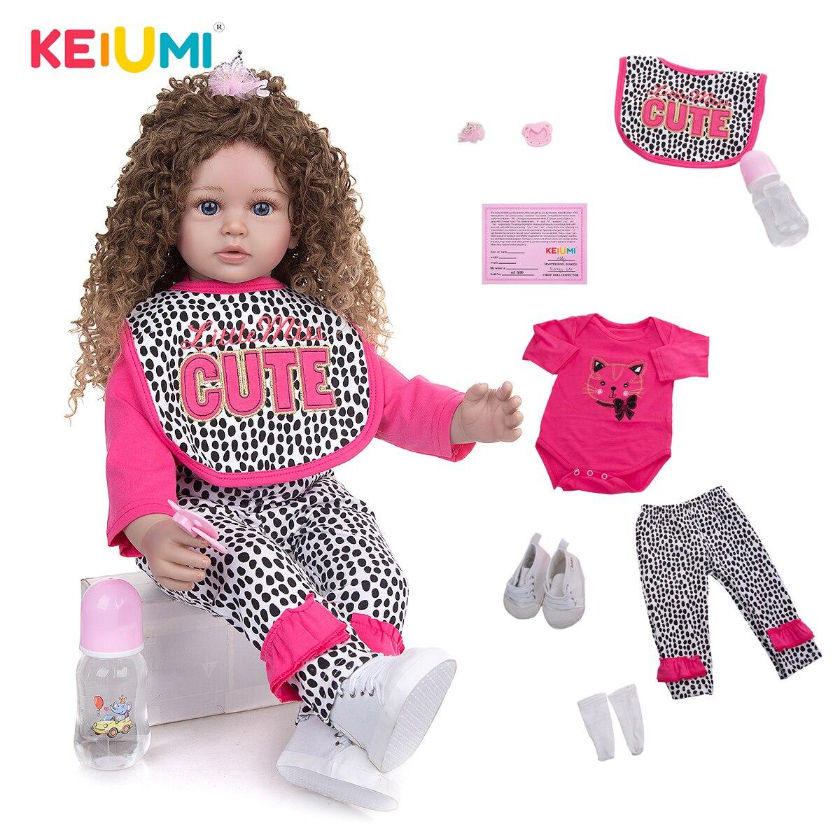 Тканевый корпус 60 см, куклы-реборн KEIUMI, модные наряды для новорожденных, детские игрушки, кукла «сделай сам», Playmate, подарок на день рождения д...