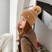 Disney inverno malha chapéu mickey strass logotipo tarja beanies toque pompons casual boné de esqui boné equitação ao ar livre conjunto