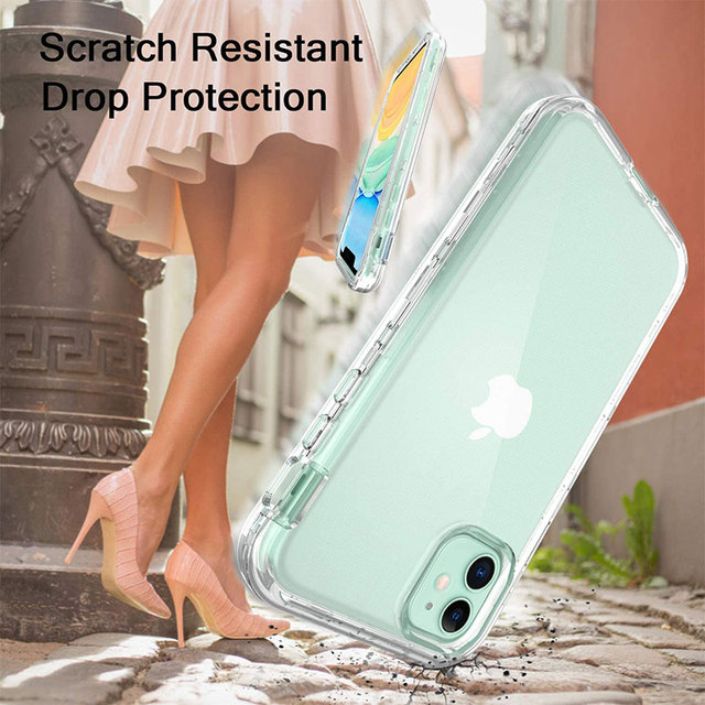 Full Body 360 Front Back Phone Case For Iphone 12 11 Pro Max 8 7 6s Plus Cover Transparent Coque For Iphone X Xr Xs 5s Se 2020 5