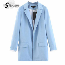 Sitruuna 2019 Autumn turn down collar women jacket office lady casual female outwear striped dot print women coat blazer ladies cheap REGULAR None Polyester spandex Pockets Solid Full Notched Blazers piece 0 401kg (0 88lb ) 33cm x 26cm x 3cm (12 99in x 10 24in x 1 18in)