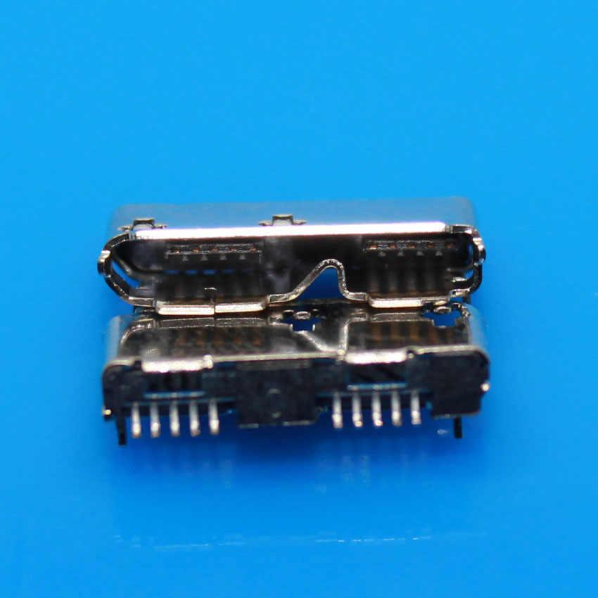 Jcd USB 3.0 Micro B Wanita 10 Pin Pengisian Konektor Jack Socket Suku Cadang untuk Mobile Hard Disk Data Antarmuka