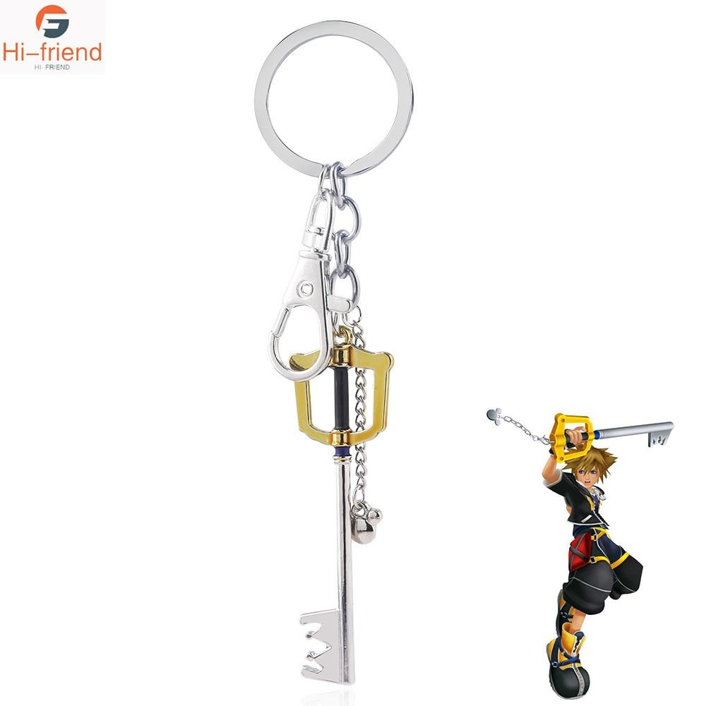 Kingdom Hearts Keychain Sora Key Keyblade Costume Pendants Ornament Novelty Decor Gold key chains Gift