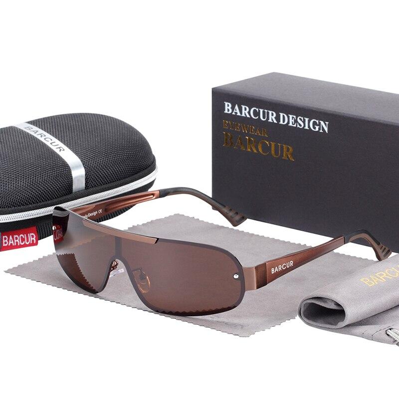 Polarized Pilot Sunglasses Brown