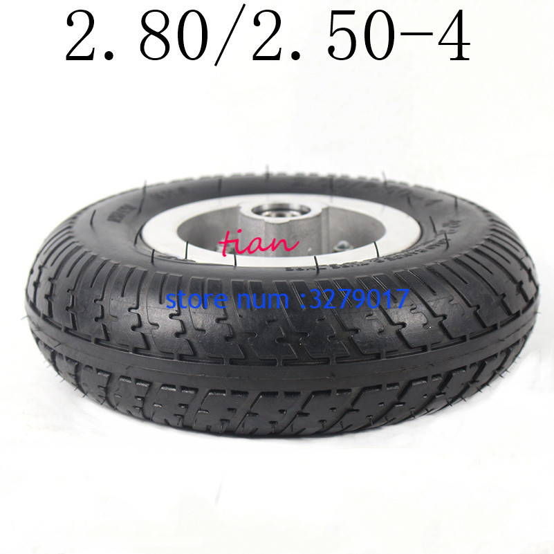 Hot Sale Good Quality 2.80/2.50-4 Tire Solid Wheel 9 Inch for Electric Scooter Trolley Trailer and Wheelchair Hand Truck