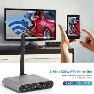 Image 5 - 5G 4K Wifi Sans Fil HDMI VGA Bâton TV Audio Vidéo Affichage Dongle Adaptateur pour iPhone iPad HUAWEI XIAOMI IOS Android Téléphone À La TVHD