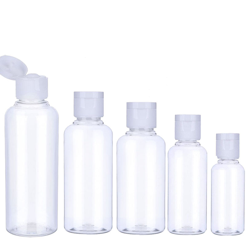 30Pcs Plastic Shampoo Bottles 10/30/50/60/100ml Plastic Bottles For Travel Container For Cosmetics Lotion