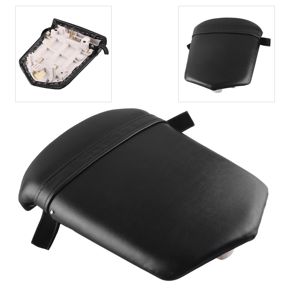Motorcycle Rear Passenger Back <font><b>Seat</b></font> Pillion Cushion Pad <font><b>for</b></font> <font><b>Yamaha</b></font> YZF <font><b>R1</b></font> <font><b>2000</b></font> 2001 Black image