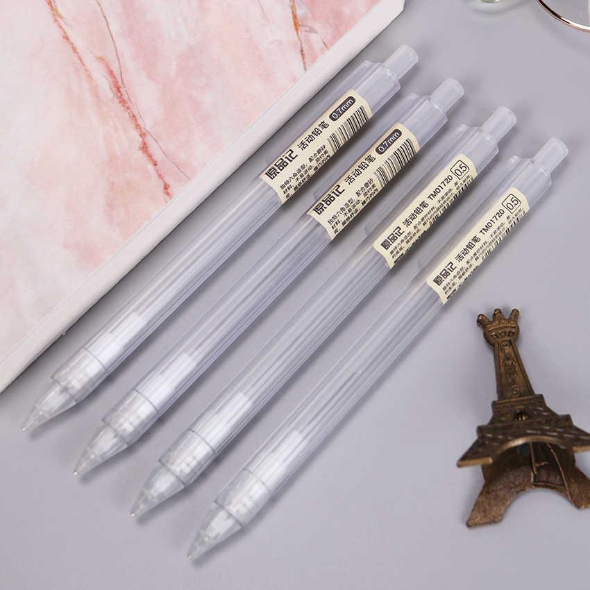 لطيف Kawaii البلاستيك الميكانيكية قلم رصاص شفافة التلقائي أقلام للأطفال الكورية القرطاسية 0.5 مللي متر و 0.7 مللي متر 1 قطعة