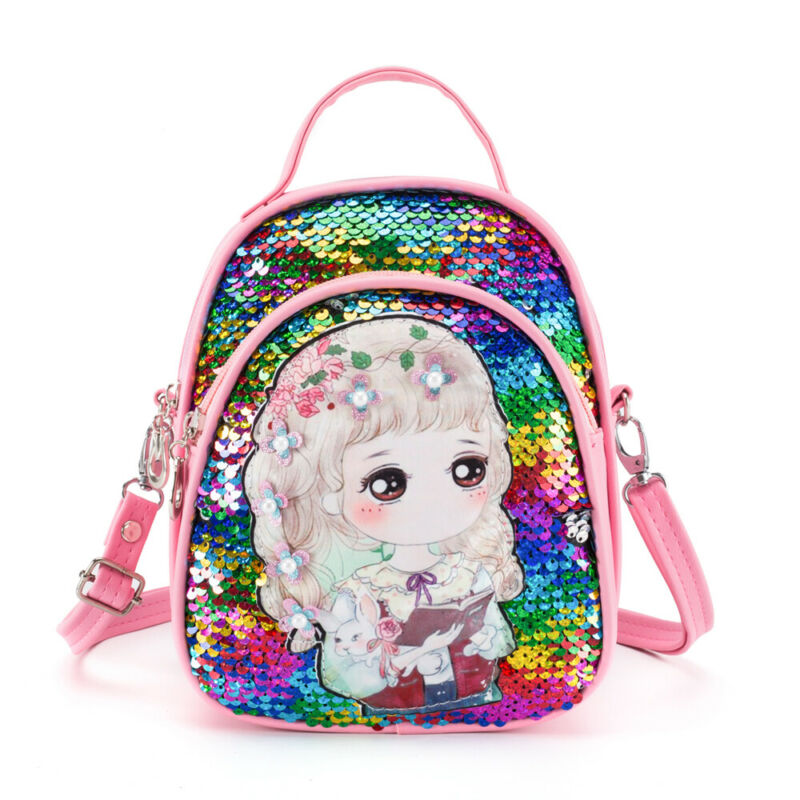 2020 Newest Toddler Children Kids Girl Sequins Princess Backpack School Bag Rucksack Cartoon Backpack With Wild Princess