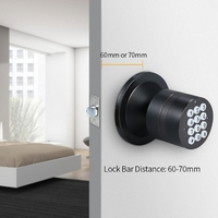 Turbo Lock Smart Code Ball Door Lock Password Electronic Digital Door Lock Simple Installation Security Door Lock