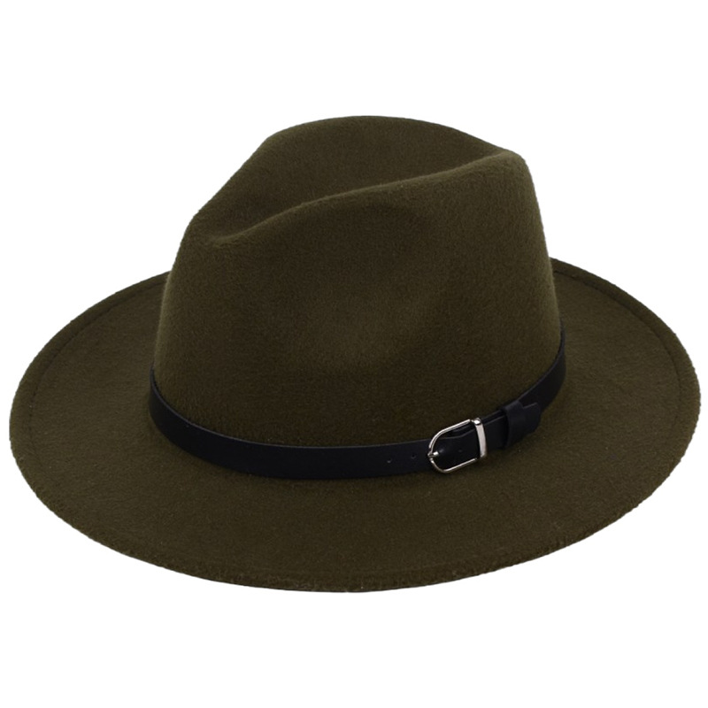Classic British Fedora Hat Men Women Imitation Woolen Winter Felt Hats Fashion Jazz Hat Chapeau Wholesale 21