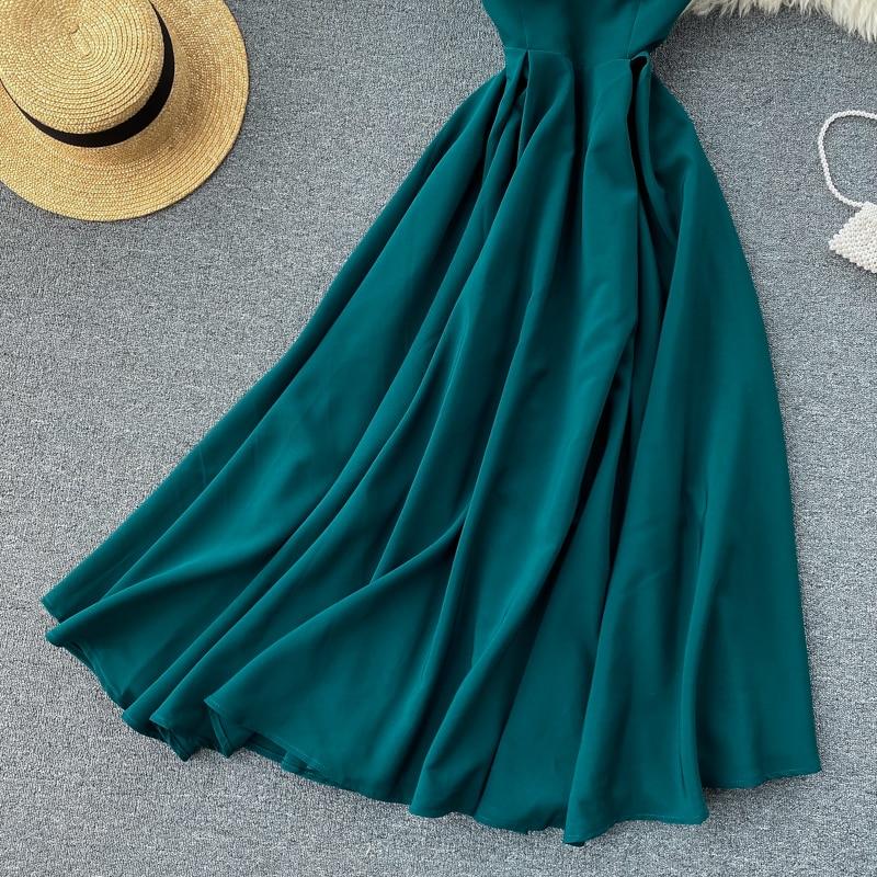 Elegant Vintage Sleeveless V-Neck Bandage Dress 26