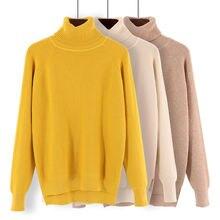 Hlbcbg женский свитер с высоким воротником зимний теплый джемпер