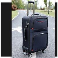 Hohe qualität wasserdichte Oxford Roll Gepäck Spinner männer Business Marke Koffer Räder 20 zoll Kabine Trolley Hohe kapazität