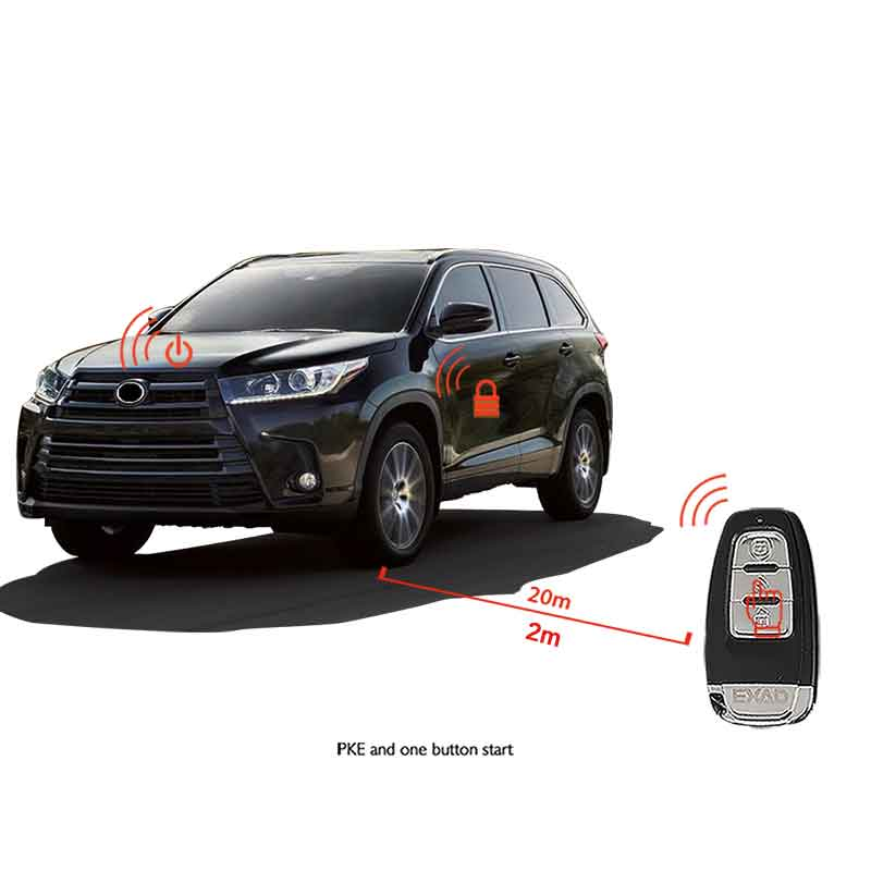 Signaling PKE Multifunction Car Alarm With Auto Start Start Stop Button Starline Auto Alarm Remote Start Car Central Locking