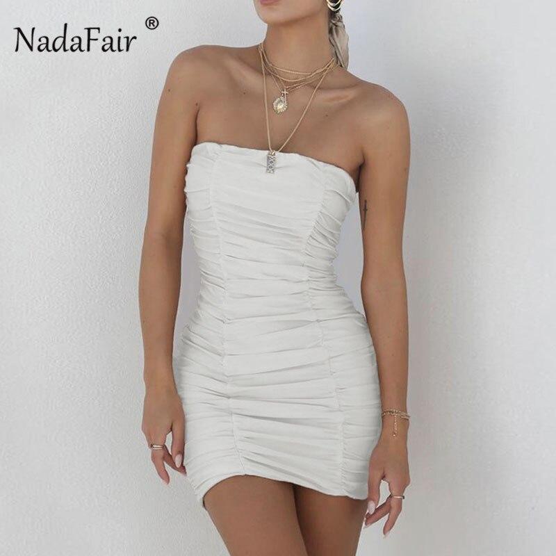 White Tight Strapless Dress