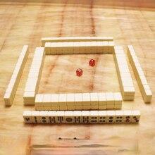 Mini Cute Little Mahjong Mahjong Tile 24mm Hand Rub Outdoor Portable Travel Game Mahjong Suit Portable