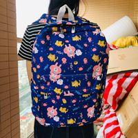 15*29*40cm Japanese Cute Animal Cartoon Canvas Backpack Travel Plush Kitty Bag