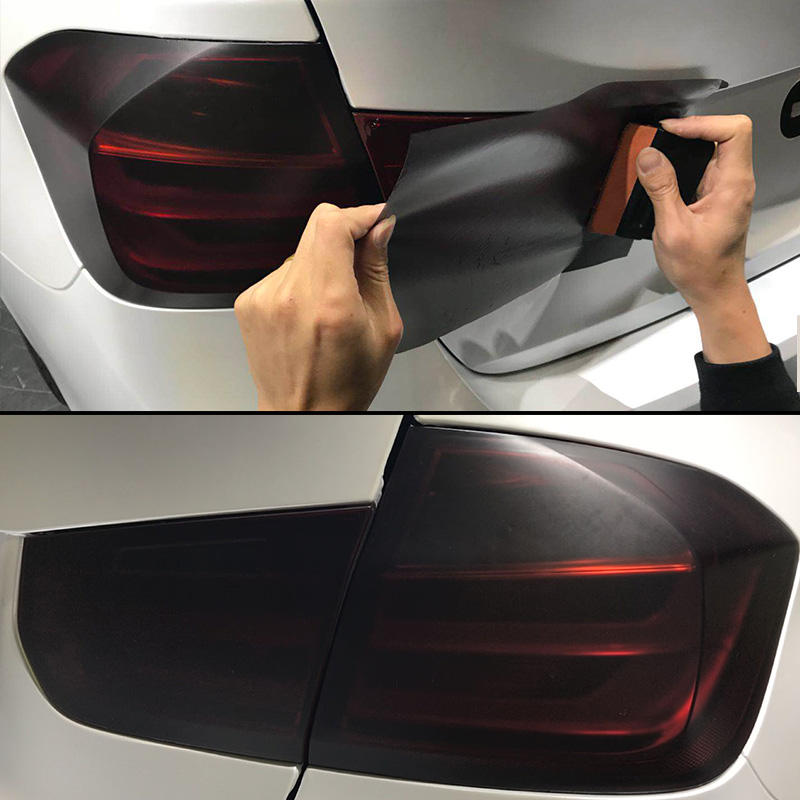 30cm X 200cm Headlights Tail Lights Car Matt Black Tint Vinyl Wrap 78.7 Inch Fog Latest Useful Light Durable New Hot Set