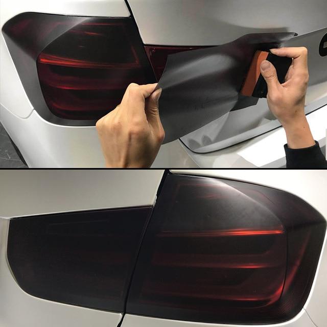 $ 8.49 30cm x 200cm Headlights Tail Lights Car Matt Black Tint Vinyl Wrap 78.7 inch Fog Latest Useful Light Durable New Hot Set
