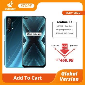 Купить Realme X3 суперзум глобальная Версия Мобильный телефон 8 Гб 128 ГБ 60X Snapdragon 855 + 120 Гц дисплей 64-мегапиксельная четырехъядерная камера 30 Вт более быс...